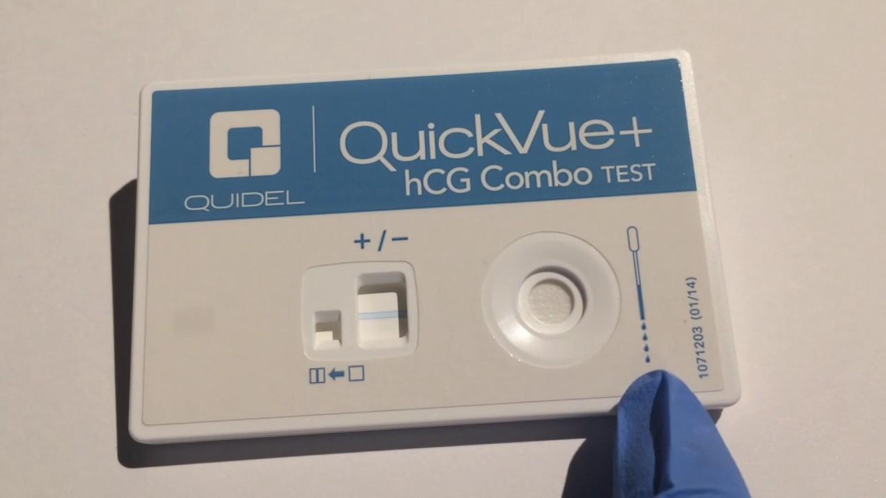 hcg pregnancy test instructions