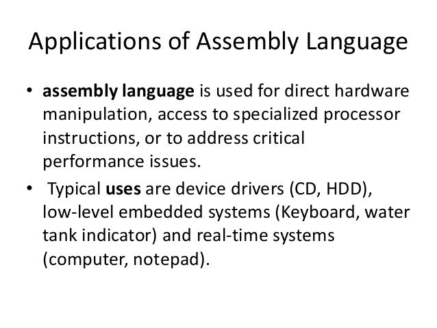 understanding assembly language instructions