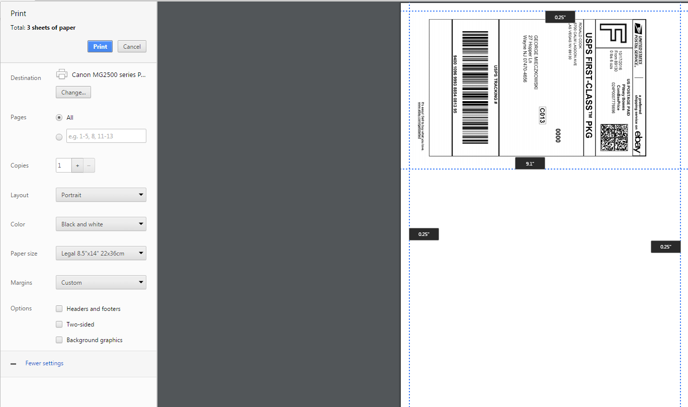 paypal print shipping label without instructions