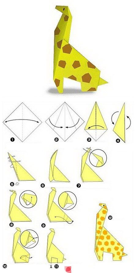 3d origami giraffe instructions