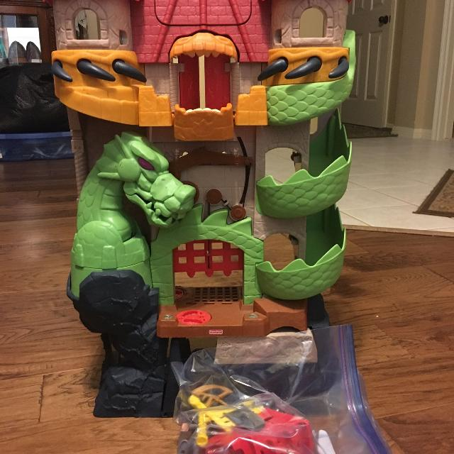 fisher price dragon castle instructions