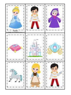 disney princess memory game instructions
