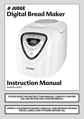 moulinex bread maker instruction manual
