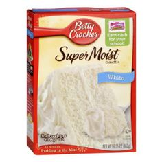 betty crocker supermoist white cake mix instructions