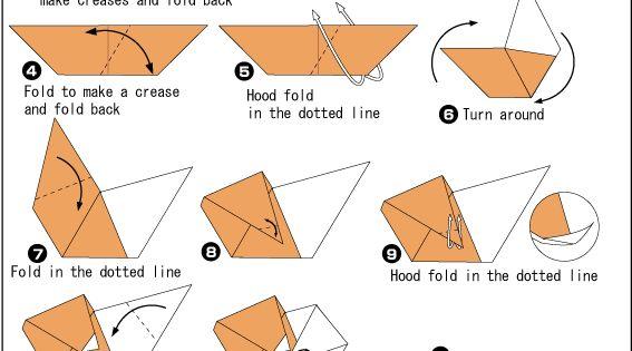 instructions for origami polar bear easy