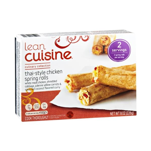 lean cuisine garlic chicken spring rolls cooking instructions