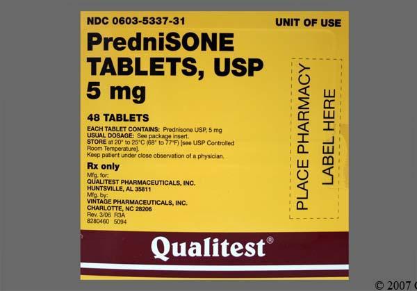 prednisone 5mg dosage instructions