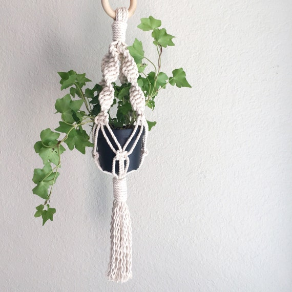 macrame plant hanger instructions youtube