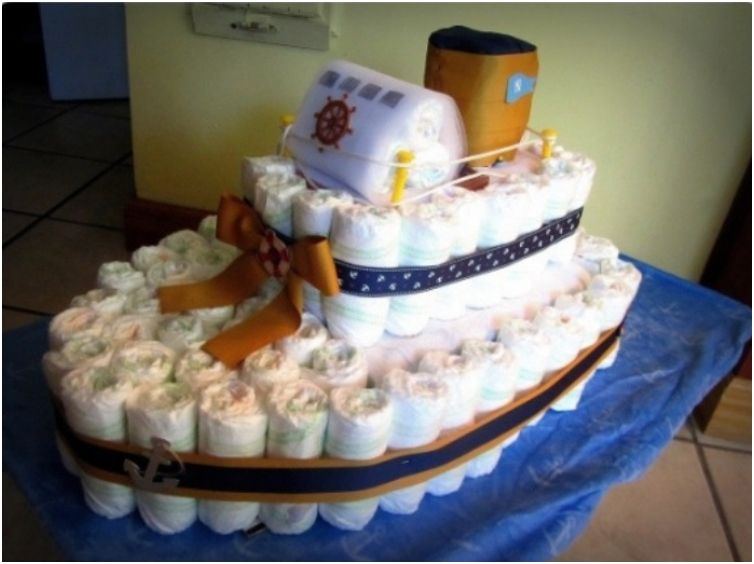 instructions on how to make a nappy cake