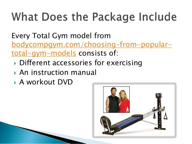 total gym workout instruction manual