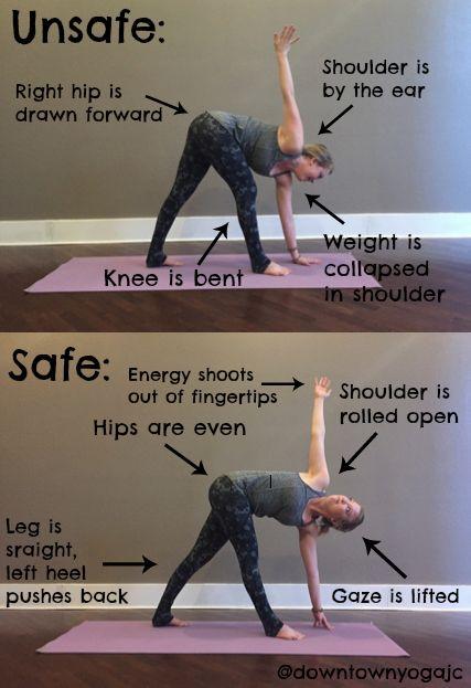 triangle yoga pose instructions