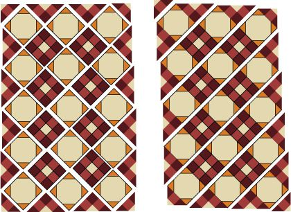 diagonal square quilt instructions