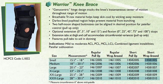 ossur knee immobilizer instructions