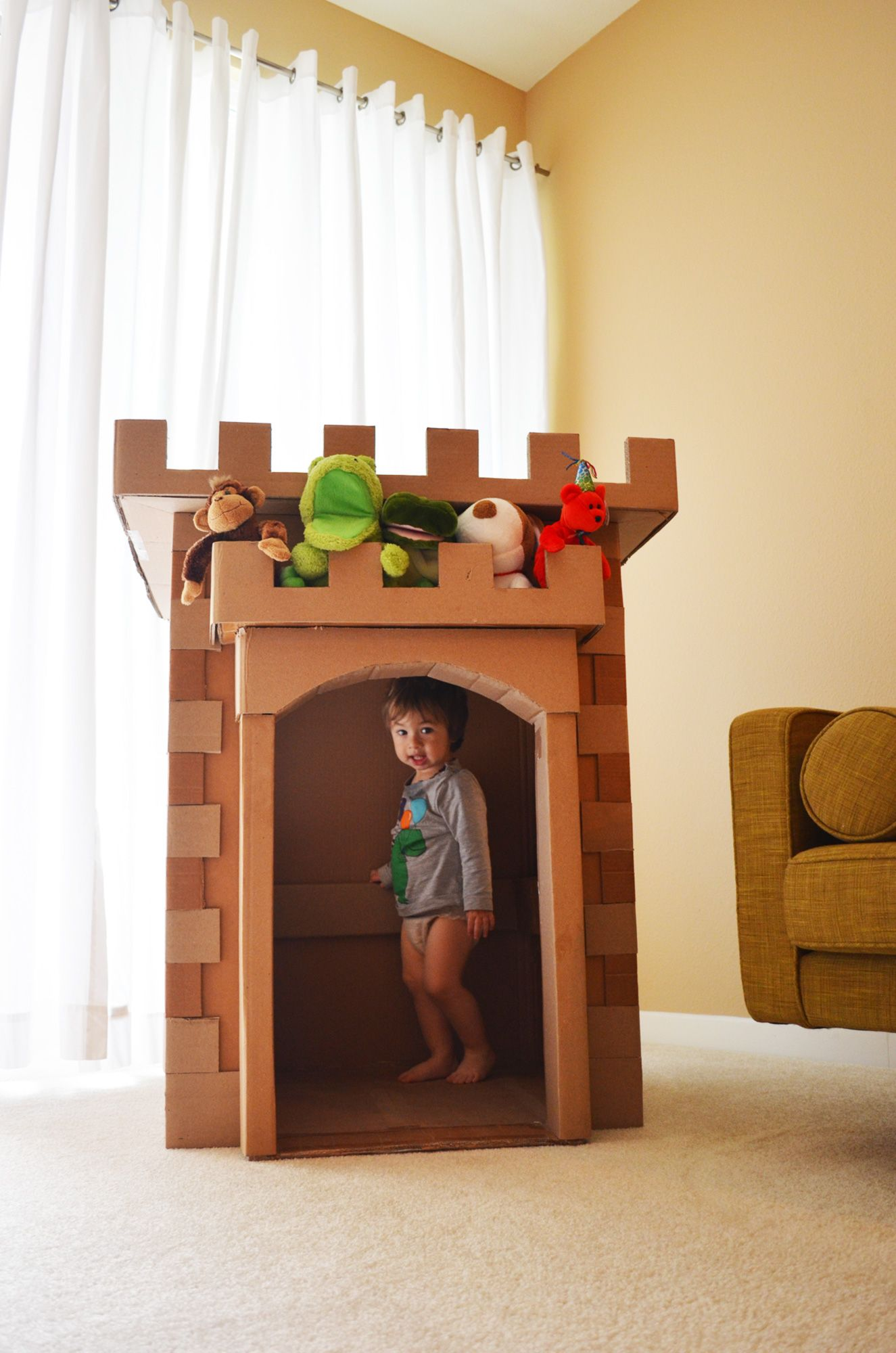 cardboard box castle instructions