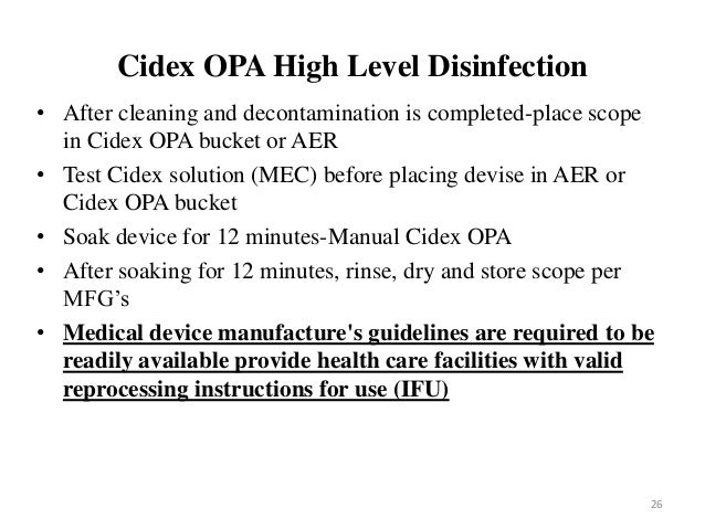 cidex opa test strips instructions for use