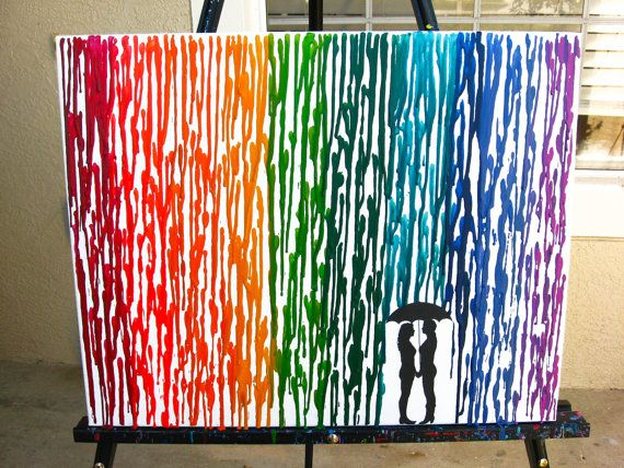 melted crayon art instructions with silhouette