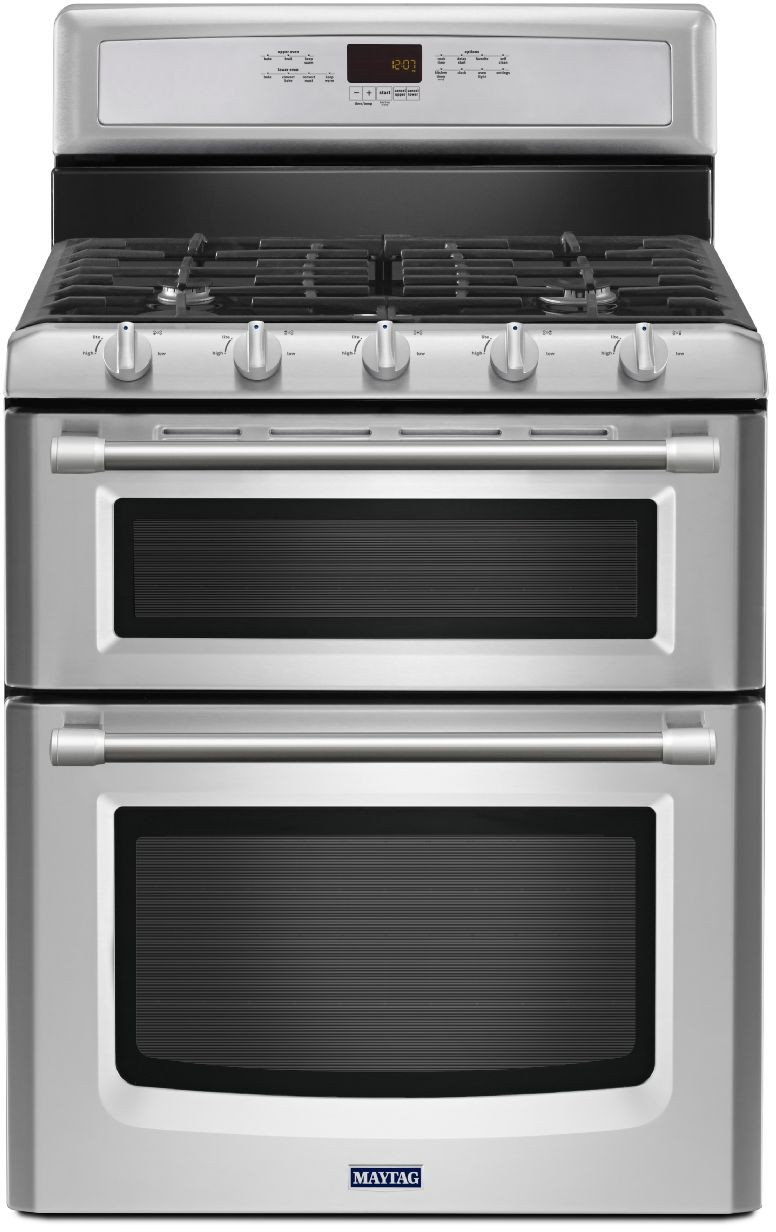 maytag double oven gas range cleaning instructions