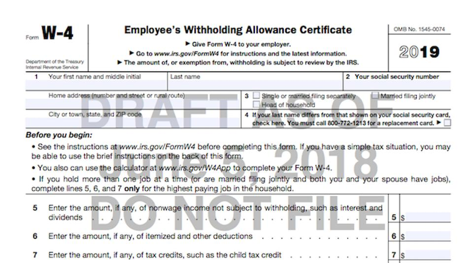 instructions to fill federal td1 form