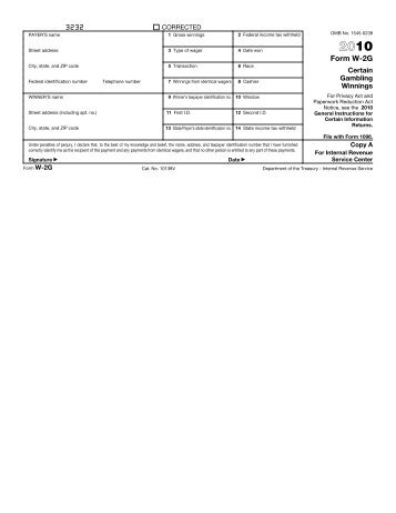 form w-2g instructions 2010