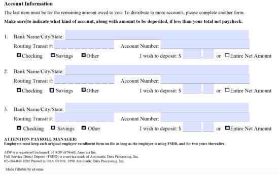 adp direct deposit instructions
