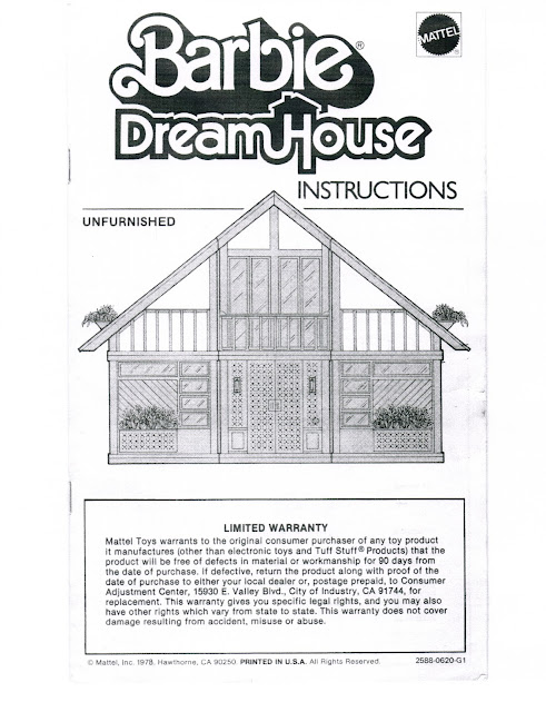barbie houses instruction to build