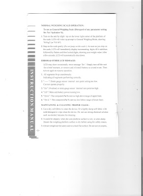 camry scales instruction manual err-a