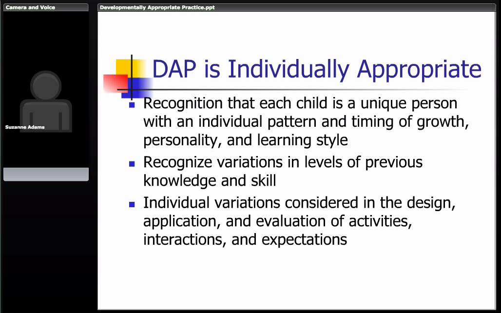 course developmentally appropriate instructional practices