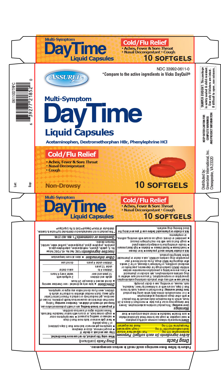 dayquil severe dosage instructions