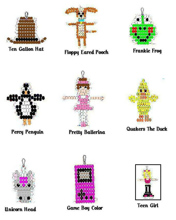 pony bead animal keychain instructions