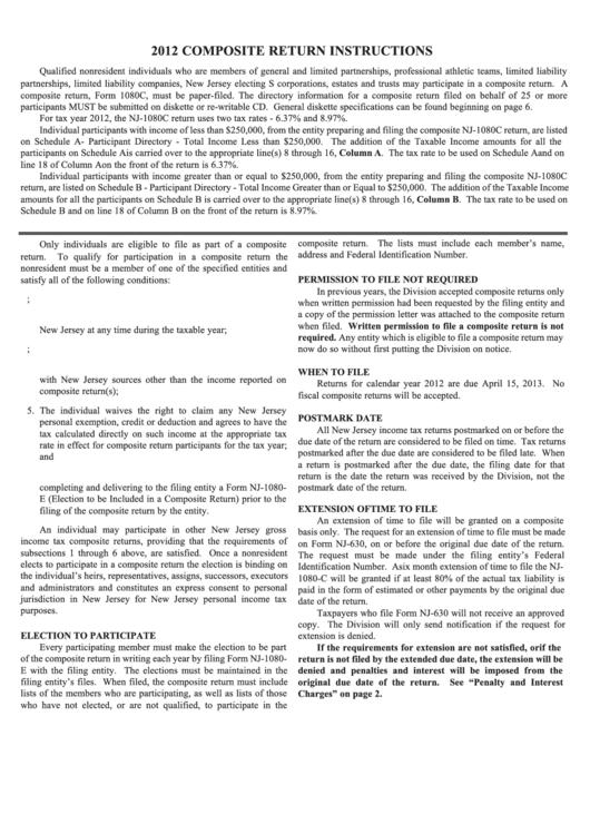 2012 company tax return instructions