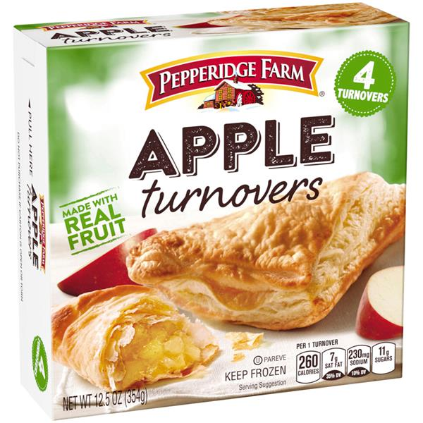 pepperidge farm apple turnover baking instructions