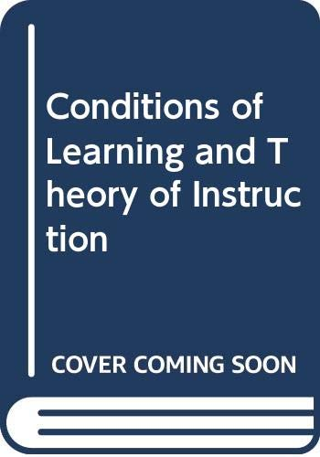 essentials of learning for instruction conditions of learning