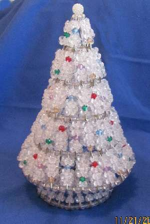 gimp and beads christmas trees with instructions