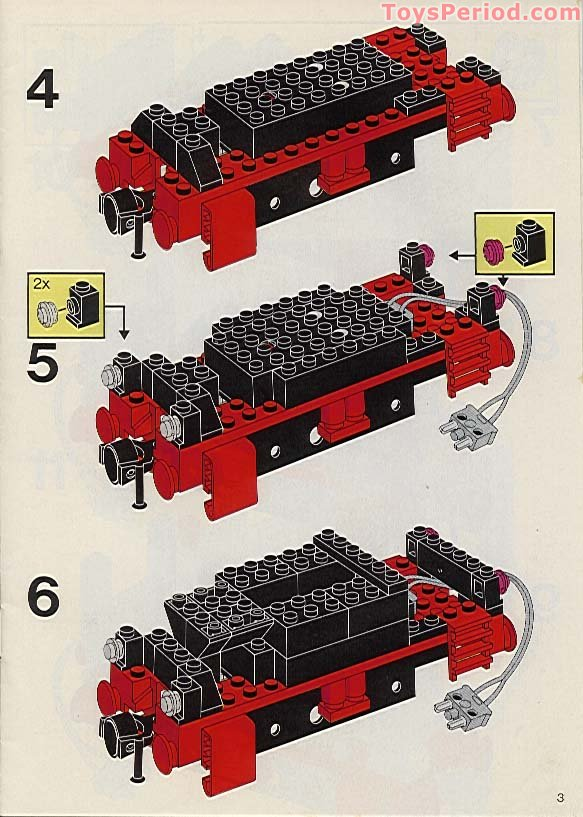 first lego train set instructions