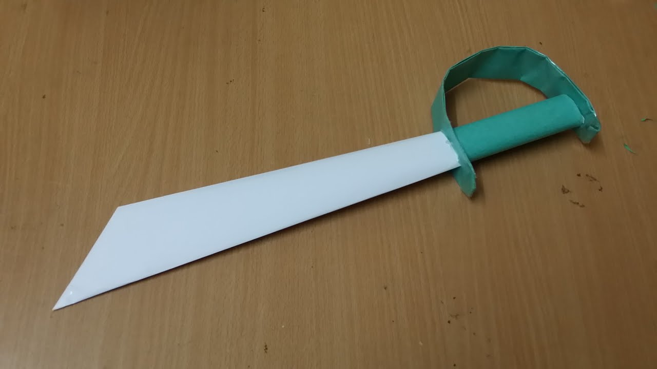 how to make a paper sword instructions