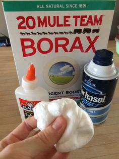 slime without borax or glue ingredients and instructions