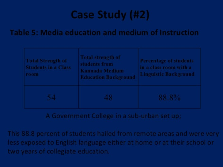 unplanned medium of instruction policy